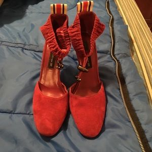 Dark red Swede shoes by Steven